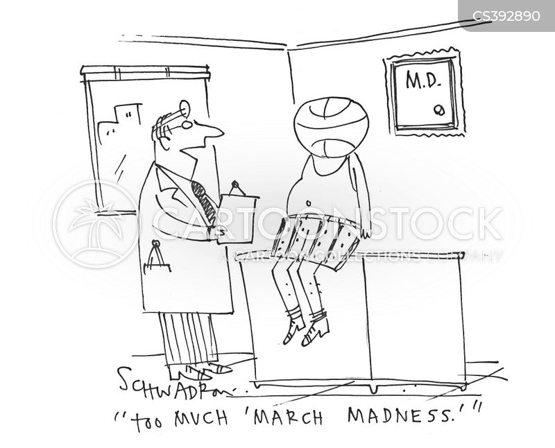 basketball fan cartoon