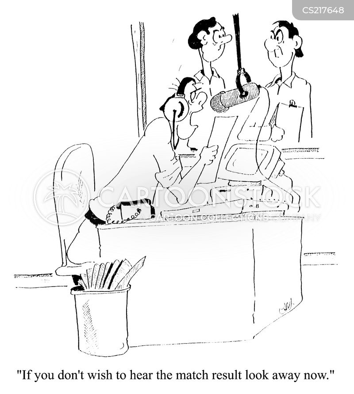 sport reporter cartoon