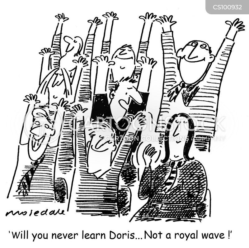 royal wave cartoon