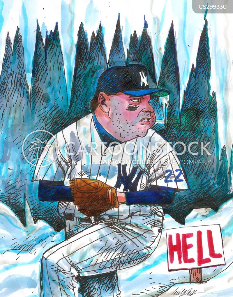 mlb cartoon