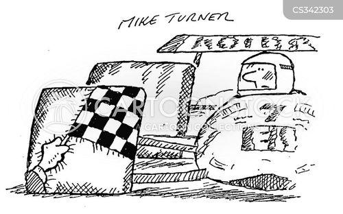 motor racing cartoon