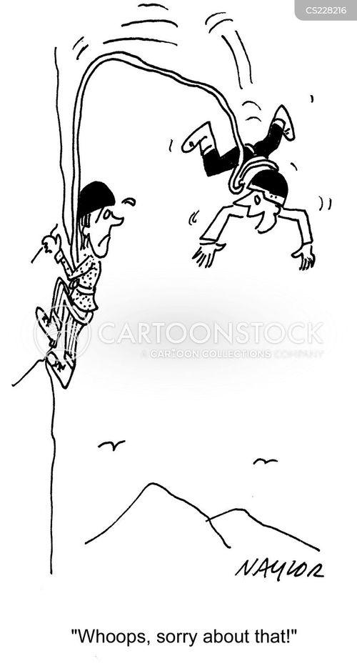 climbing accident cartoon