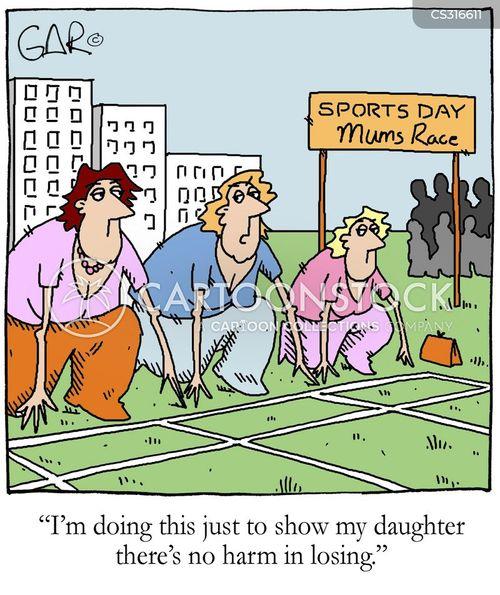 Mothers Race Cartoons And Comics