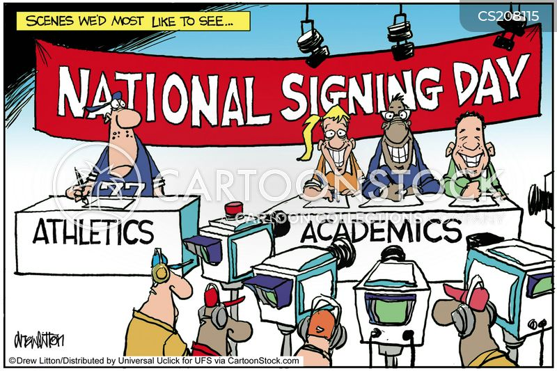 sports scholarships cartoon
