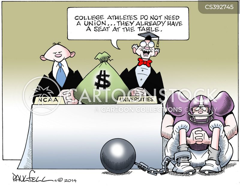 college athletes cartoon