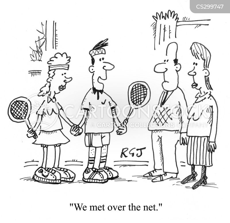 tennis courts cartoon