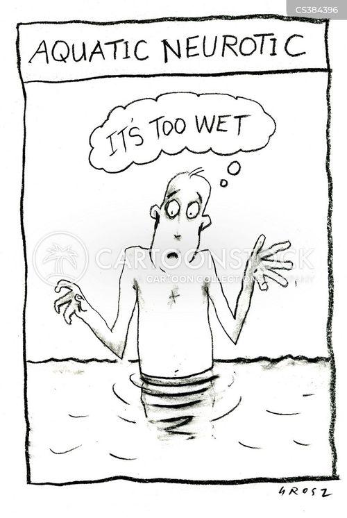 fear of water cartoon