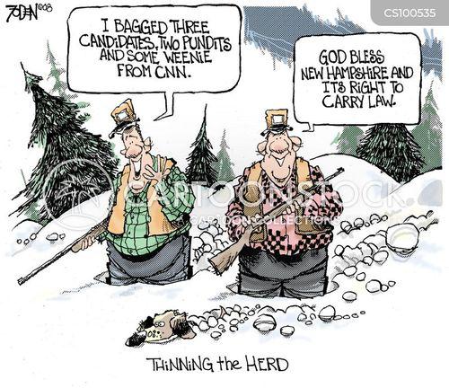 gun lover cartoon