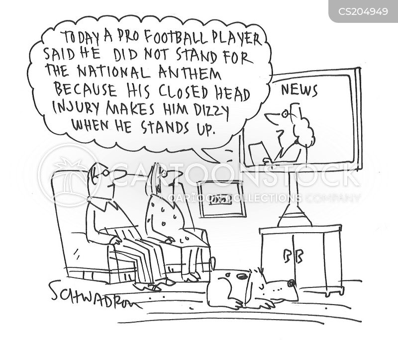 national anthem protest cartoon