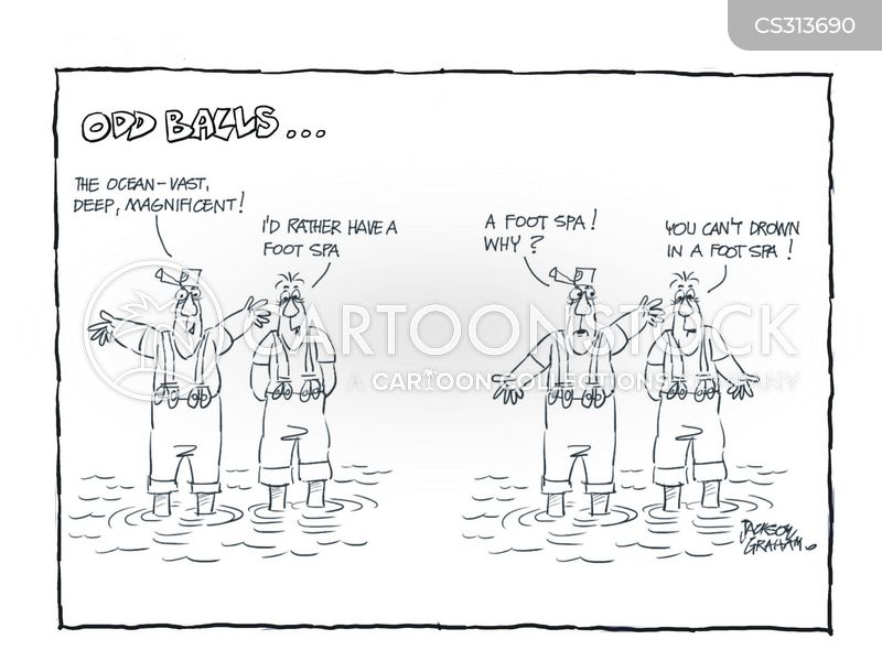 scared of water cartoon