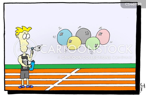 starting lines cartoon