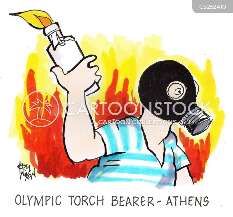 olympic torches cartoon