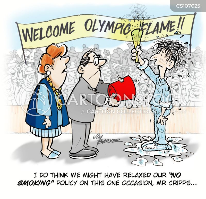 olympic flame cartoon