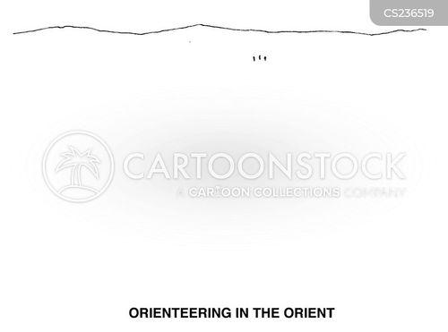 orienteering cartoon