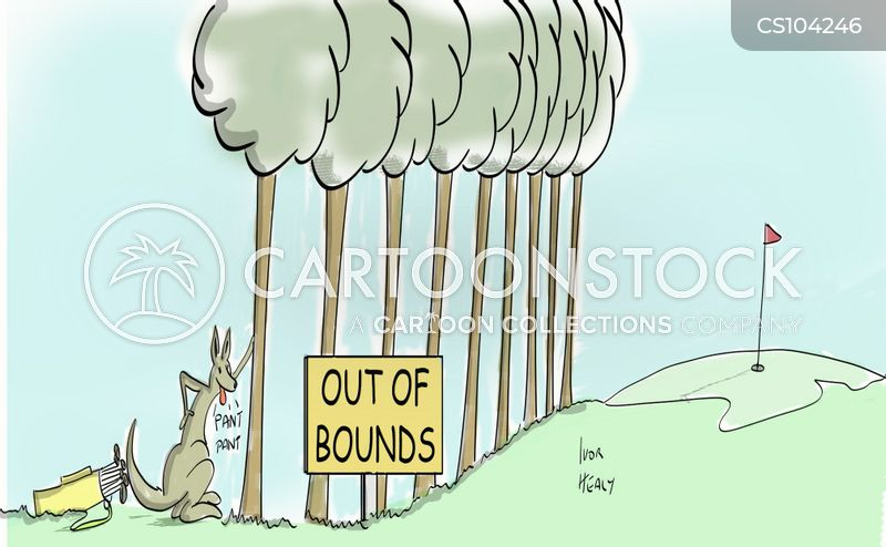 out of bounds cartoon