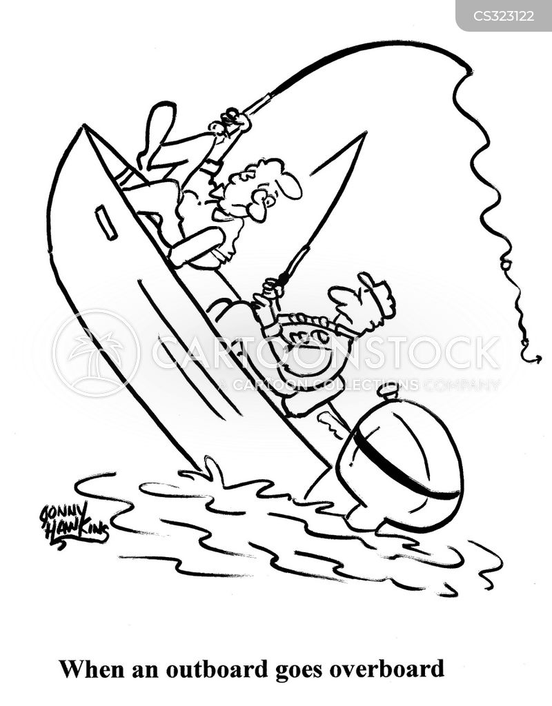 outboard motor cartoon