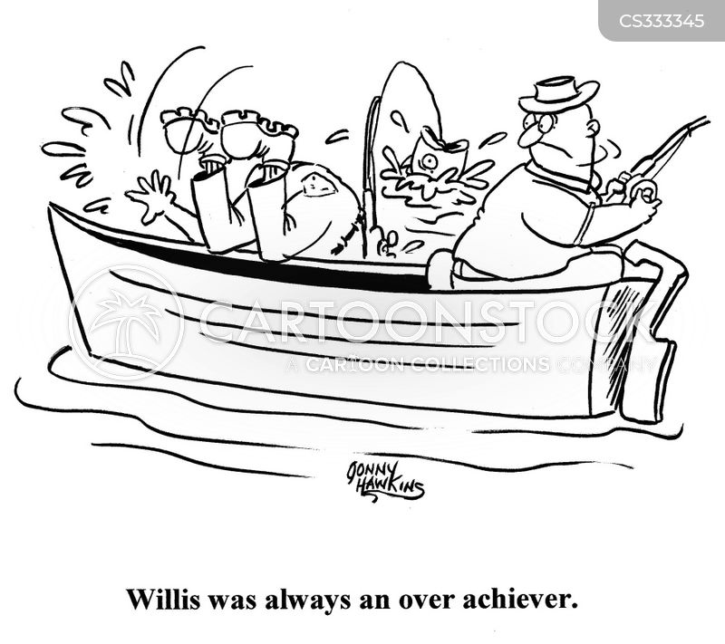 fishing accidents cartoon