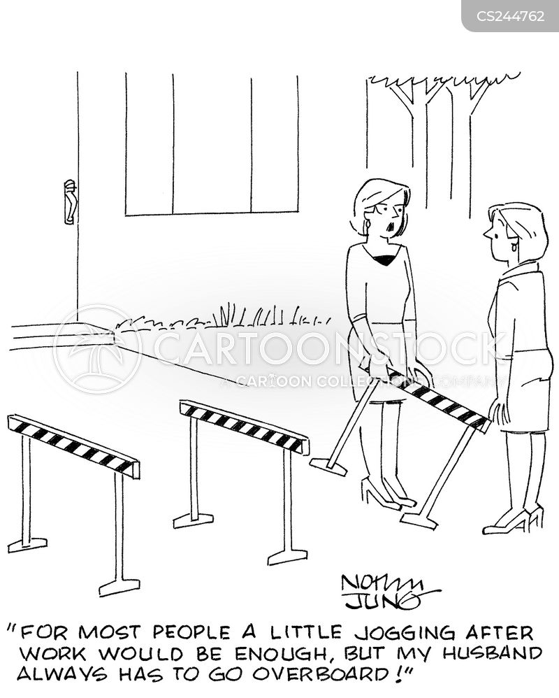 hurdling cartoon