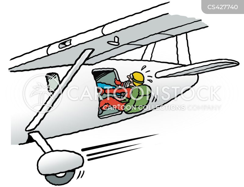 parachutists cartoon