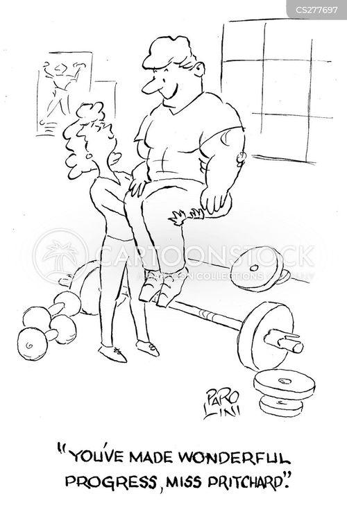 gym instructors cartoon