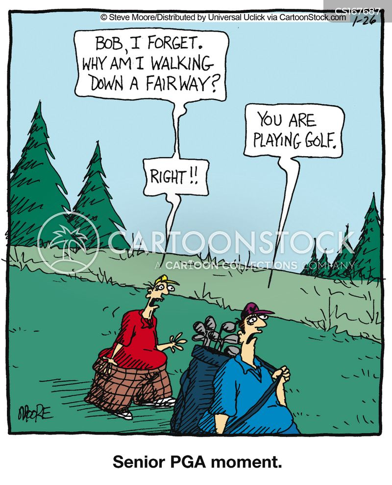 Senior Golf Cartoons Senior Moments Cartoon 1 of 25