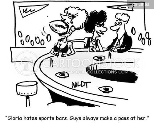 sports bars cartoon