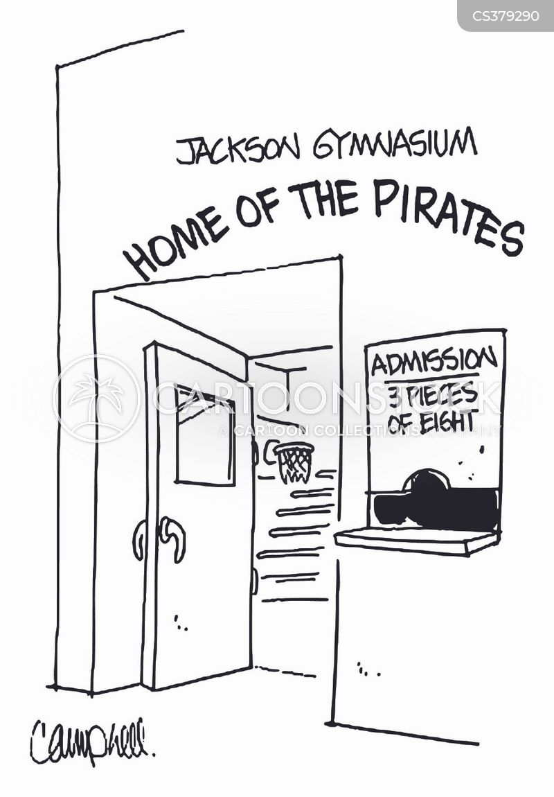 gymnasiums cartoon