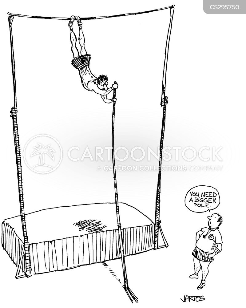 pole vaulters cartoon