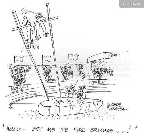 pole jump cartoon
