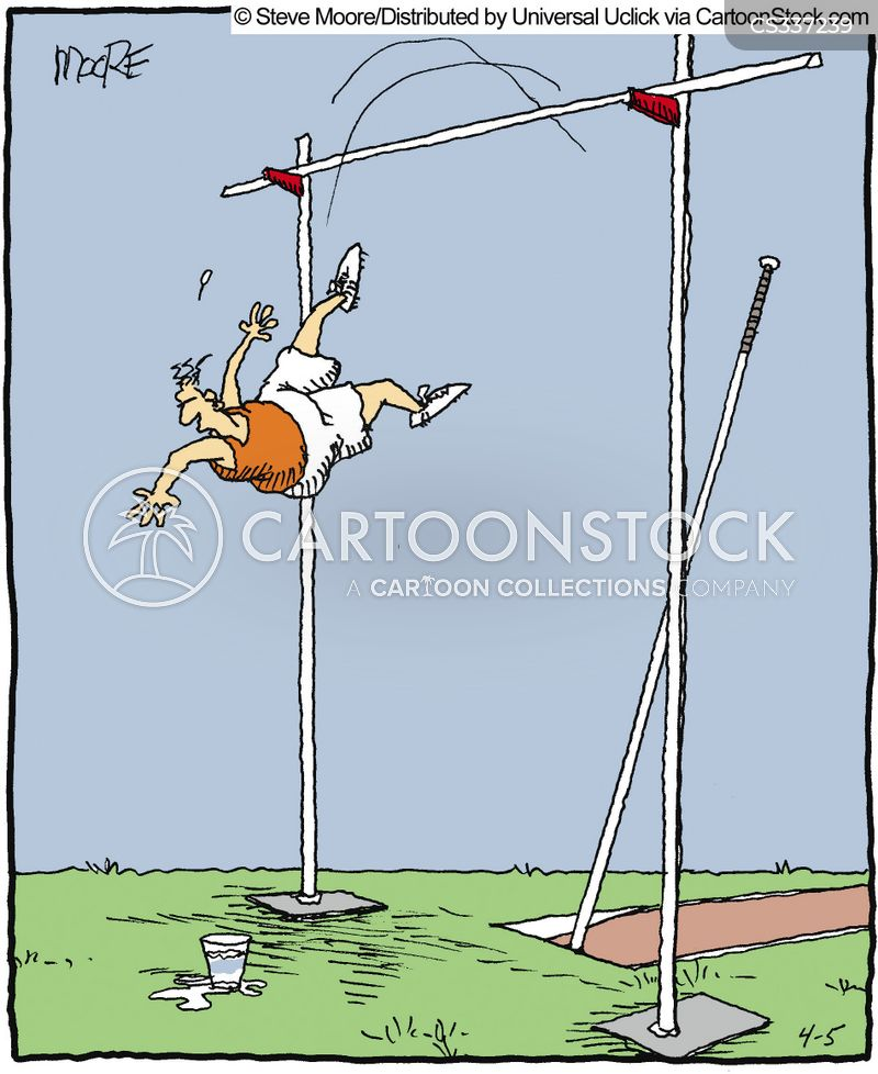 pole vaulting cartoon