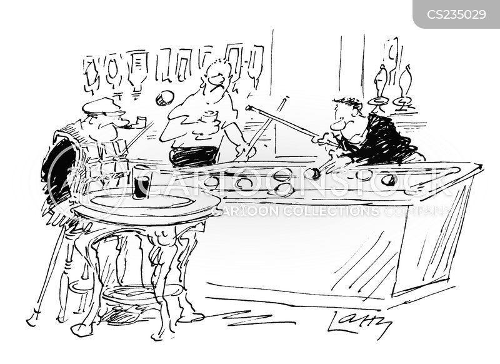 bar games cartoon