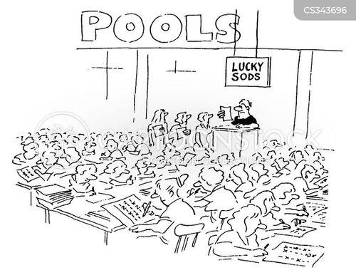 football pools cartoon
