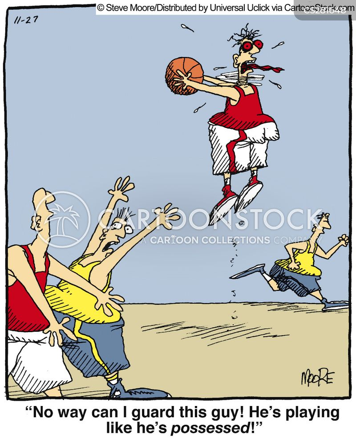 basketballer cartoon