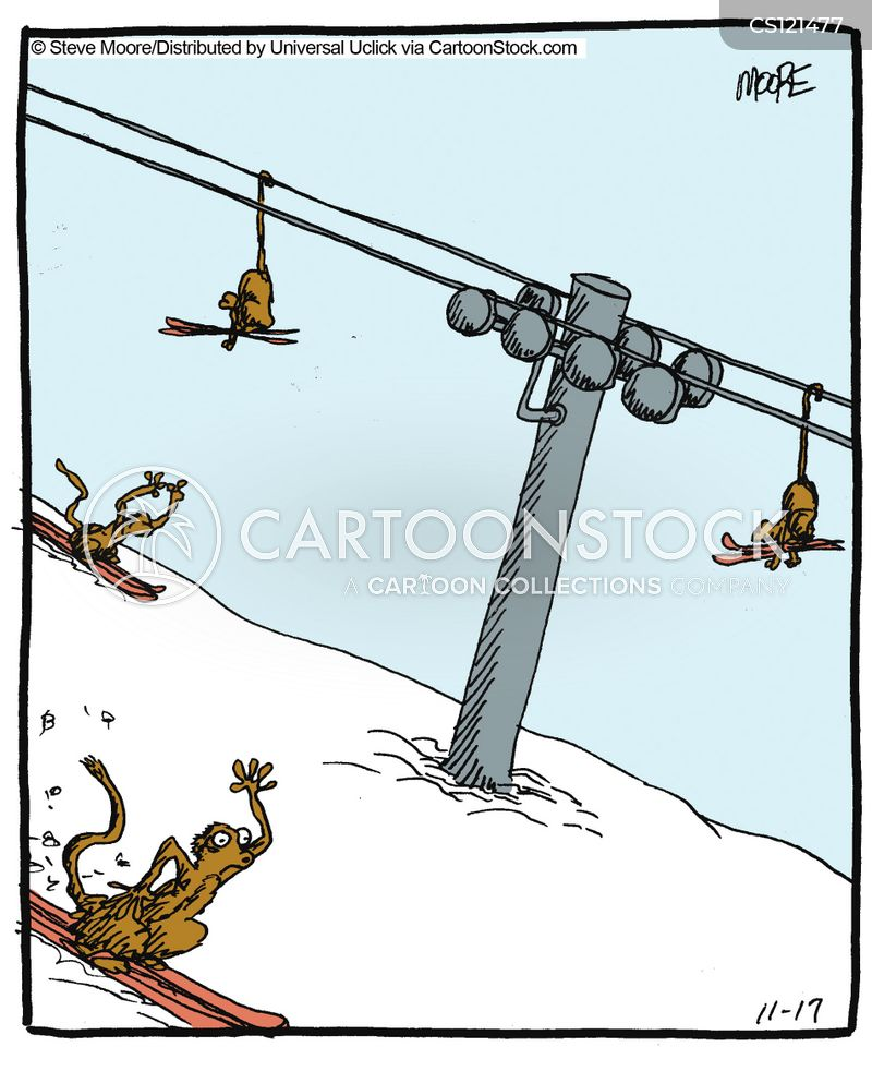 downhill sport cartoon