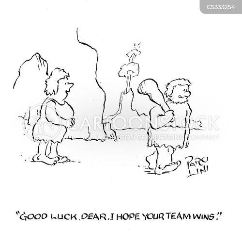 wishing luck cartoon
