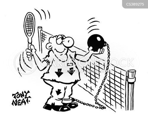 racquets cartoon