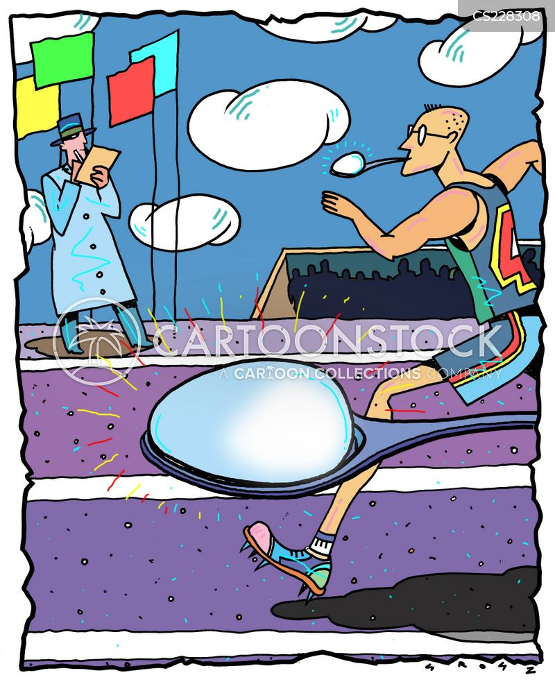 sunning cartoon