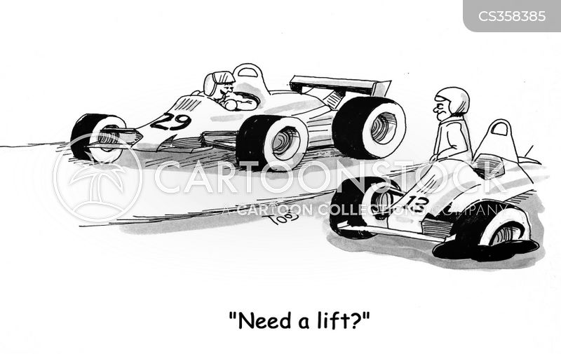stock car cartoon