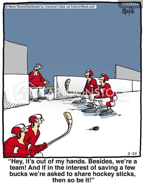 hockey sticks cartoon
