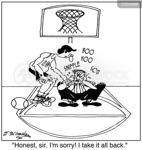 basketball refs cartoon