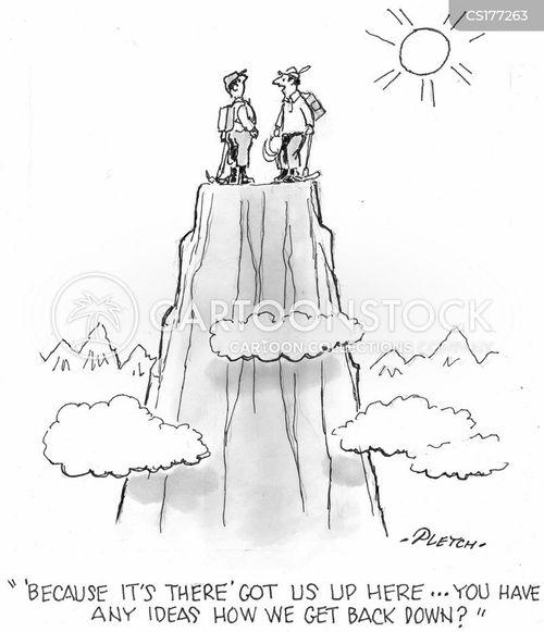rock climbing cartoon