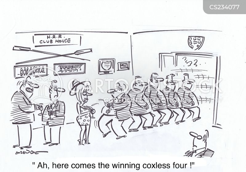 rowing competition cartoon