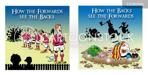 rugby forwards cartoon