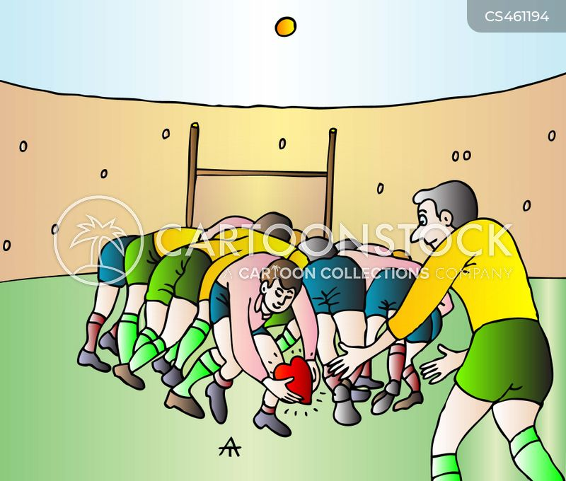 rugby games cartoon