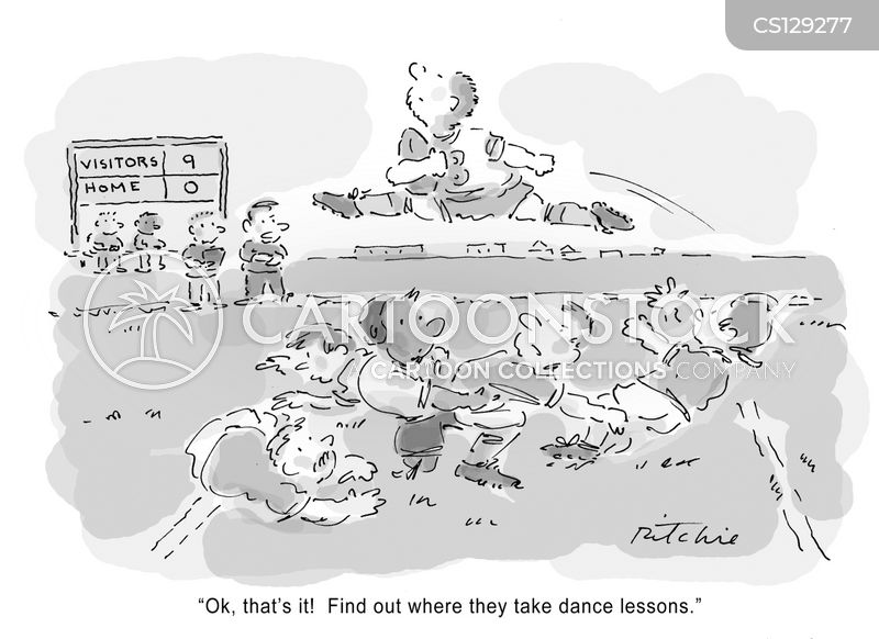 rugby game cartoon