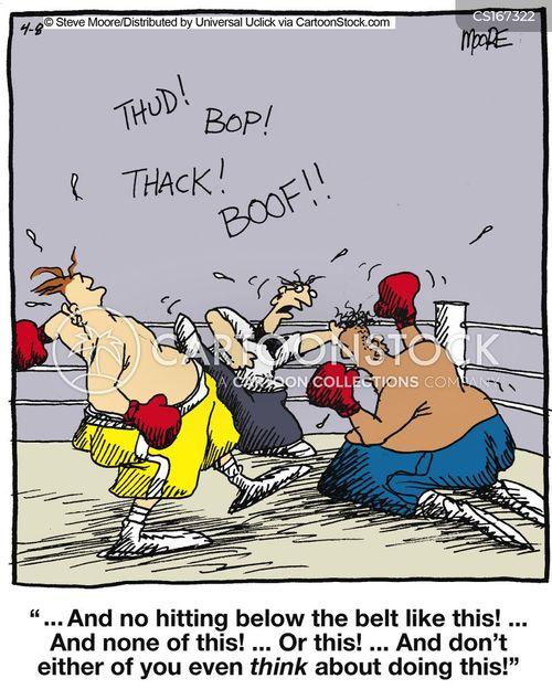 boxing rings cartoon