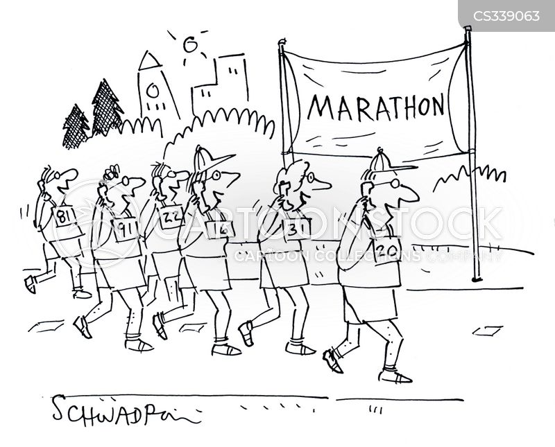 long distance runner cartoon