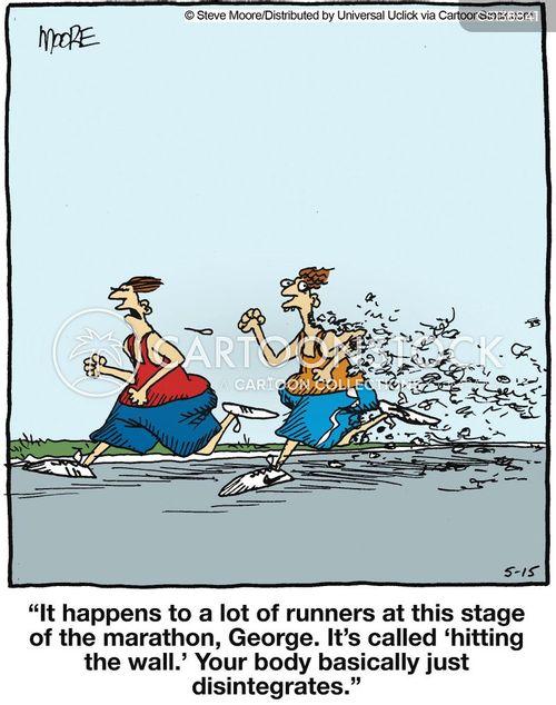 Running Cartoon Marathon Marathon Runners Cartoon 1 of