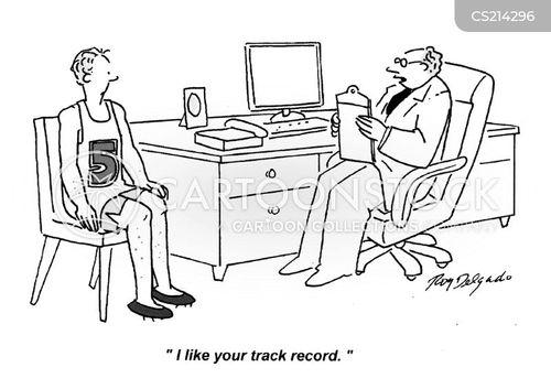 track records cartoon