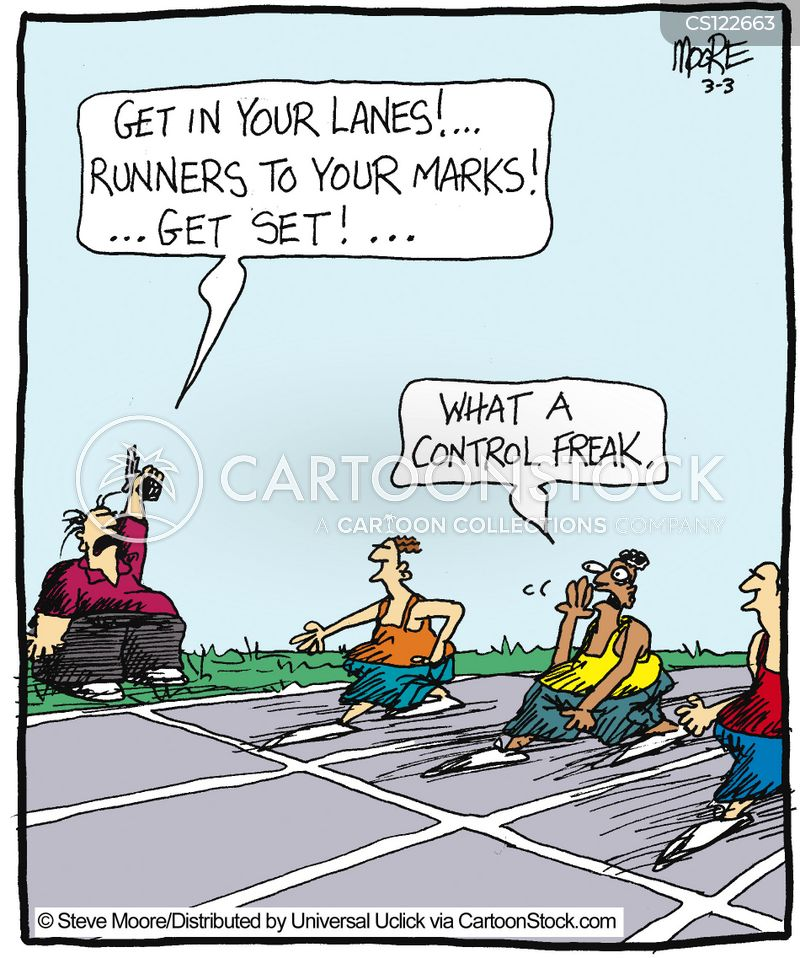running lane cartoon
